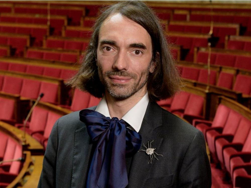Cherry as expert at the French Parliament with Cedric Villani
